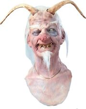 Halloween Costume DIRTY OL DEVIL WITH HORNS LATEX DELUXE MASK Haunted House NEW