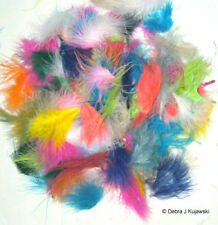 """Big bag of 420 Marabou Feathers Fluffs Small 1-3"""" Assorted Mixed colors 1 oz wt"""