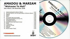 AMADOU & MARIAM Welcome To Mali UK 16-trk numbered/watermarked promo test CD