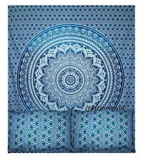 Mandala QUEEN Size Quilt Cover Mandala Duvet Cotton Doona Blue Ombra Cover