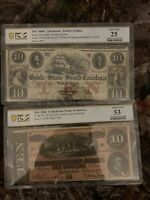 $10 confederate currency pcgs