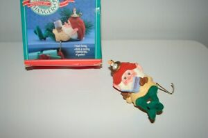 Vintage Hallmark Storytime Elf Gnome Stocking Hanger in Original Box