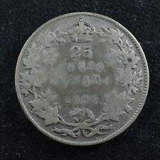 25 cents 1929 Canada King George V silver coin c ¢ quarter G-6