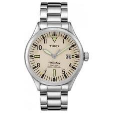 Orologio Uomo TIMEX The WATERBURY TW2P84500BR Bracciale Acciaio Beige Sabbia