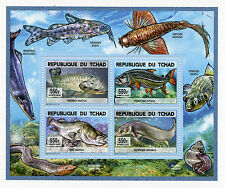 Chad Tchad 2015 MNH Fishes of Lake Chad 4v Deluxe M/S Fish Poissons