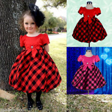Holiday Checked Dresses (0-24 Months) for Girls