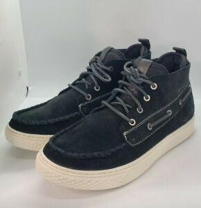 $150 Polo Ralph Lauren Chukka 100 Black  Suede Sneaker Boots Mens Size 8D NEW