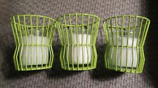 Decor Fashion- 3 Green Wire Candle Holders/Candles