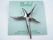 Brooch - 1865 Rachel Rhodium Plated Starfish
