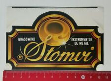ADESIVI/Sticker: brasswind instrumentos de metal-Stomvi (05041794)
