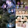 2018 Colorful LED Light Wood House Christmas Decor Xmas Tree Hanging Ornaments