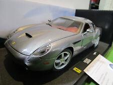 FERRARI  575 GTZ ZAGATO gris au 1/18 de HOT WHEELS ELITE P9915 voiture miniature