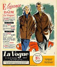 """PARIS SAINT-DENIS MAGASIN """" LA VOGUE """" PUBLICITE ADVERTISING 1957"""