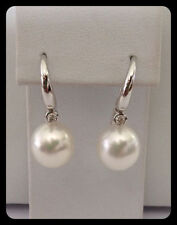 Pearl Not Enhanced Diamond Fine Earrings