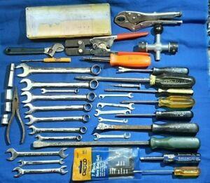 Mechanic Junk Drawer Craftsman, Pittsburg Wrench set, SK tools Pry Bar, Stanley