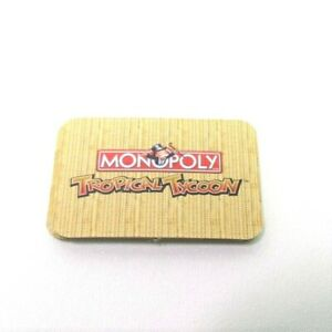 2007 Monopoly Tropical Tycoon DVD Game Replacement Pieces- 5 ID Tokens