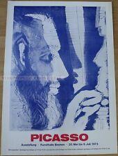 GERMAN EXHIBITION POSTER 1973 - PICASSO EXHIBITION art print
