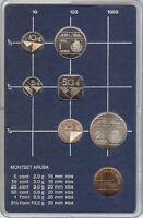 ARUBA - NETHERLANDS 1986 SET 6 MONEDAS + MEDALLA - FDC