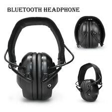 Foldable Bluetooth Earmuff Headphone Hearing Protecter Noise Reduction 85dB
