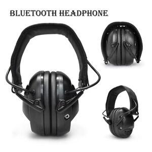 Foldable Bluetooth Earmuff Headphone Hearing Protecter Noise Reduction 85dB