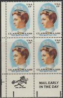 Scott# 1699 - 1976 Commemoratives - 13 cents Clara Maass Zip Block