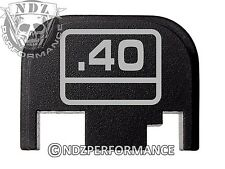 For Glock 17 19 21 22 23 27 30 34 36 41 Rear Plate Blk G1-4 .40 G Logo