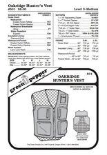 Adults' Oakridge Hunter's Vest #501 Sewing Pattern (Pattern Only) gp501