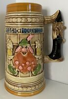 Magic Mountain German Stein Mug Theme Park Vintage Advertising Das Alpenhaus 7""
