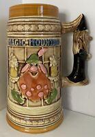 "Magic Mountain German Stein Mug Theme Park Vintage Advertising Das Alpenhaus 7"""