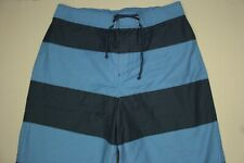 Lacoste Board Shorts Men's Size 5 M Medium Blue Striped Swimsuit Mesh Lined NWT