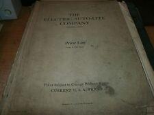 1947 THE ELECTRIC AUTO-LITE AUTOLITE COMPANY PARTS PRICE LIST W PART NUMBERS