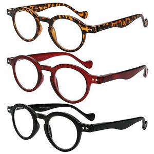 Vintage Reading Glasses Spring Hinges Round Men 1.0 1.5 2.0 2.5 3.0 3.5