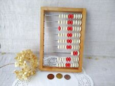 Vintage Wooden Abacus Soviet School Counting Frame Wood Toy Calculator USSR 60s