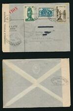 CAMEROON CAMEROUN 1940 to NETHERLANDS MILITARY CENSOR + A5 ...AIRMAIL