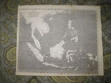 ANTIQUE 1805 EAST INDIA ISLANDS INDIES PHILIPPINES CHINA SUMATRA MALAYSIA MAP NR