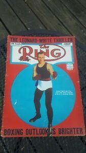 The Ring Boxing Magazine: Jan, 1945.  Benny Leonard.