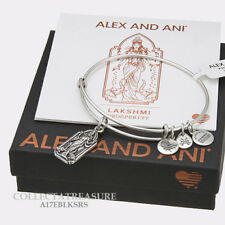 Authentic Alex and Ani Lakshmi Rafaelian Silver Charm Bangle