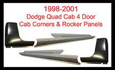 1998-01 DODGE RAM P/U 4DR QUAD CAB OUTER ROCKER PANELS AND CAB CORNERS PAIR