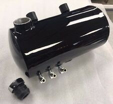Harley domed-end oil tank aluminum (black) - USA MADE!! FREE SHIPPING (USA)