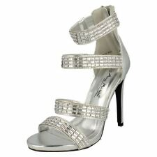 Party Patternless Sandals Synthetic Heels for Women