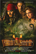 PIRATES OF THE CARIBBEAN II MOVIE POSTER Original SS 27x40 JOHNNY DEPP