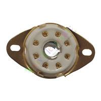 5pc 8pin PCB Gold Ceramic vacuum tube sockets base Fr 5B254 4P1S BL21 audio amp