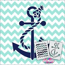 "Chevron Anchor stencil kit 12""x9"" 2 Included Zig Zag Nautical Paint Wall Beach"