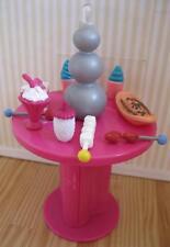 """Barbie Doll Diorama Fondue Fountain Dessert Restaurant Dessert Buffet -5.5"""" LAMP"""