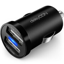 deleyCON Dual Auto KFZ Ladegerät USB Ladegerät 2.4A KFZ Ladeadapter Handy Navi