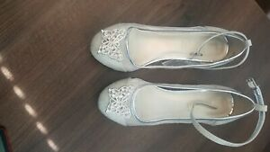 monsoon girls silver shoes size 2