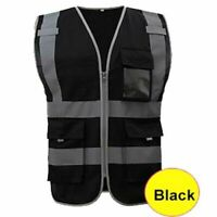 Safety Reflective Construction Building Vest Safety Clothing Work Multi Pockets