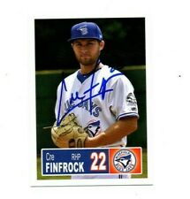 Cre Finfrock 2018 Bluefield Blue Jays auto signed team rookie card Seneca SC