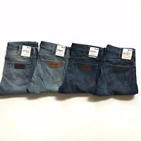 NWT Wrangler Men's Greensboro Regular Straight Authentic Denim Style Jeans $99