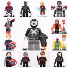 13Pcs DC Marvel SuperHeroes Captain America Ant-Man Black Panther Fit With Lego